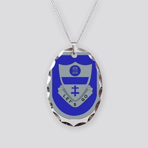 DUI-2ND BCT-82ND AIRBORNE DIV. Necklace Oval Charm