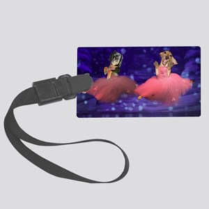 ballet two jump16x12 Large Luggage Tag