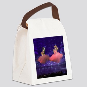 ballet two jump16x16 Canvas Lunch Bag