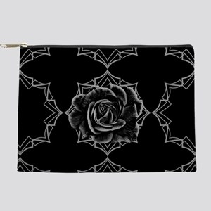Black Rose On Gothic Makeup Pouch