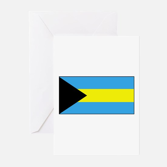 Bahamas Flag Greeting Cards (Pk of 10)