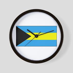 Bahamas Flag Wall Clock