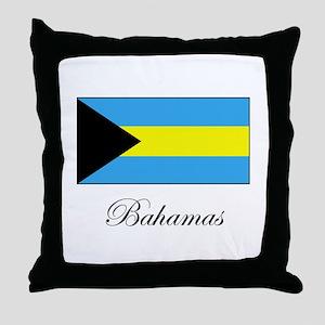 Bahamas - Flag Throw Pillow