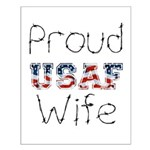 Barbed Wire Proud USAF Wife Small Poster
