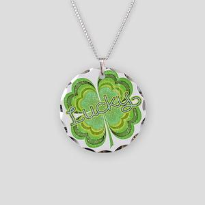 luckyvintage Necklace Circle Charm