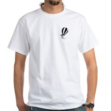 Kokopelli Hot Air Balloonist White T-Shirt