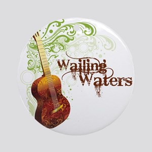 wailingwatersguitar-white Round Ornament