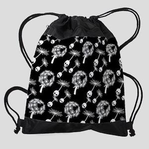 Skull Dandelion Seeds Drawstring Bag
