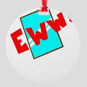 mirrortext Round Ornament
