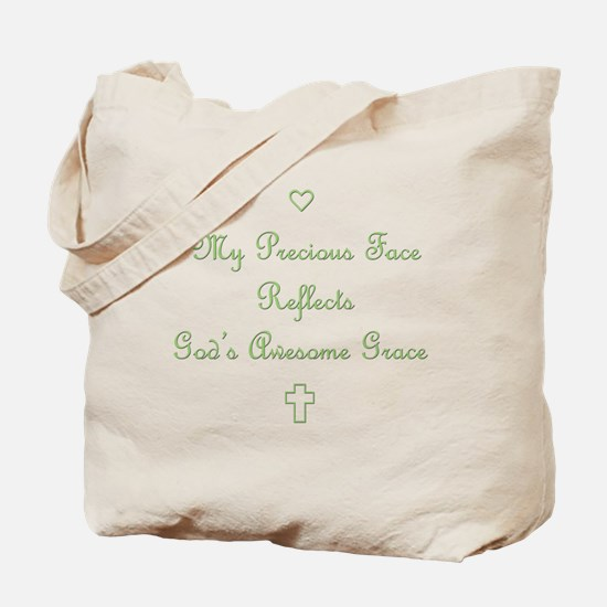 My Precious Face Green copy Tote Bag
