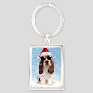 Cool Yule Christmas Card 2 Portrait Keychain