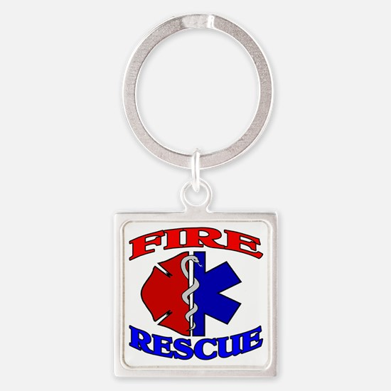 FIRERESCUE Square Keychain