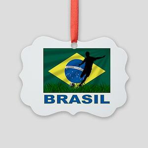 brasil soccer Picture Ornament