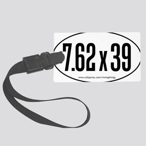 7.62x39 oval sticker PATHS Large Luggage Tag