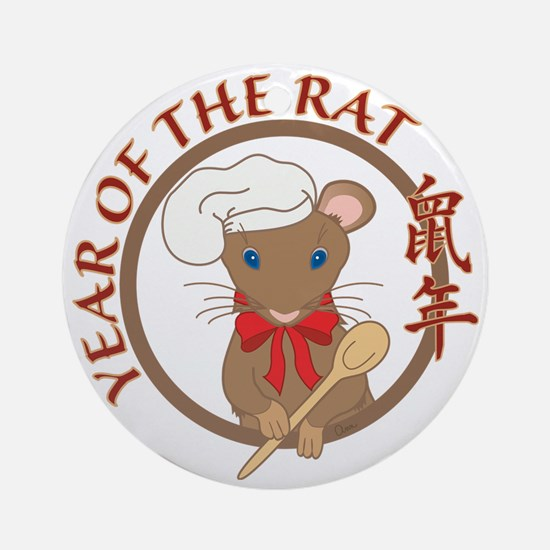 Year of the Rat-no date Round Ornament