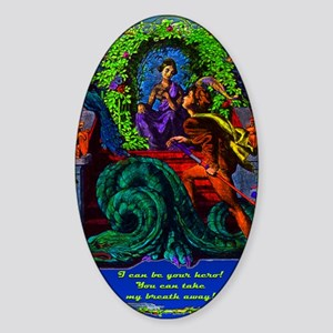 DragonTamer-art-zzzzzrr-c-x Sticker (Oval)