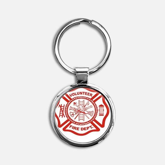 VOLUNTERR FIRE Round Keychain