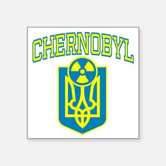 "chernobylEN Square Sticker 3"" x 3"""