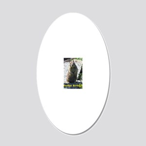 Squirrel Birthday Card - Ano 20x12 Oval Wall Decal