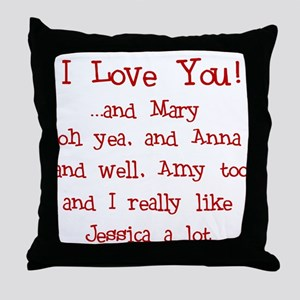 Multi-Love Throw Pillow
