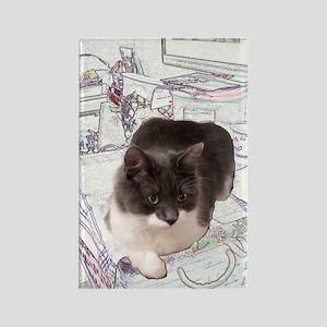 Kitty In Fairy Land Still Life Rectangle Magnet