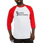 Cosmic American Black Logo Baseball Jersey