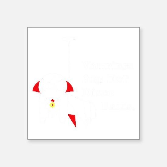 "NotDiscoBallBlack Square Sticker 3"" x 3"""