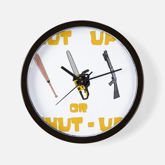 NutUpShutUp Wall Clock