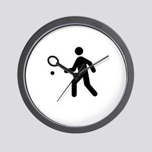TennisWatchMe White Wall Clock