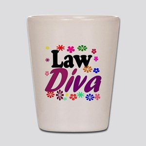 lawdiva black1 Shot Glass
