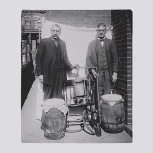 Agents Displaying Whiskey Still, 1920 Throw Blanke