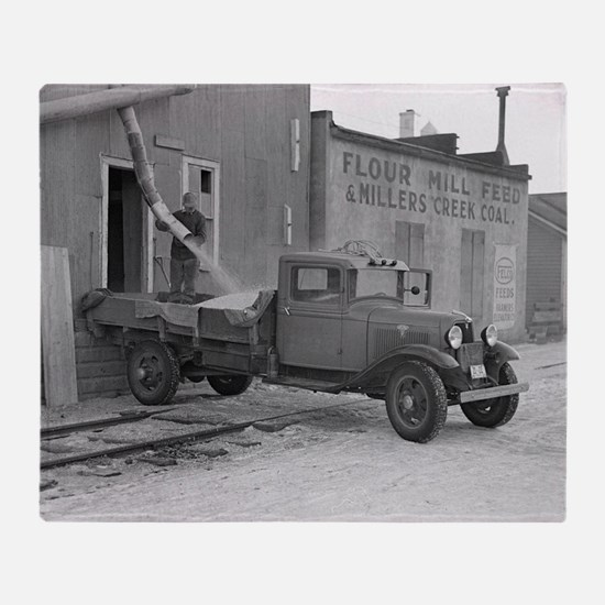 Grain Delivery Truck, 1937 Throw Blanket