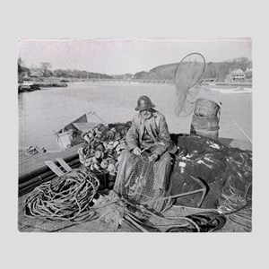 Cape Ann Fisherman, 1905 Throw Blanket