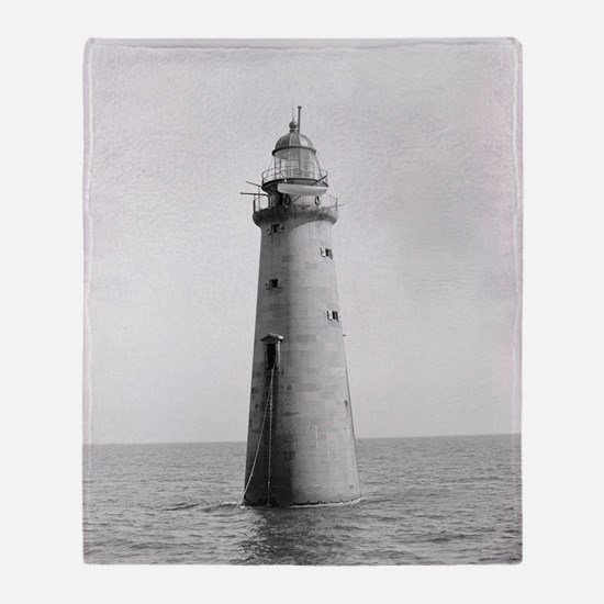 Minots Ledge Light, 1880 Throw Blanket