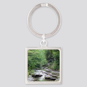 forest river scenery Keychains