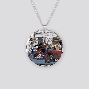 Boarding at Gate 25 Final Necklace Circle Charm