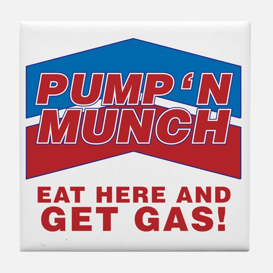 pump n munch Tile Coaster