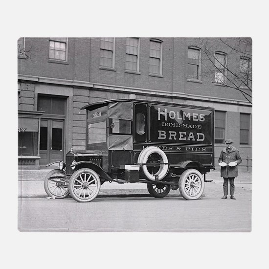 Holmes Bakery Delivery Truck Throw Blanket