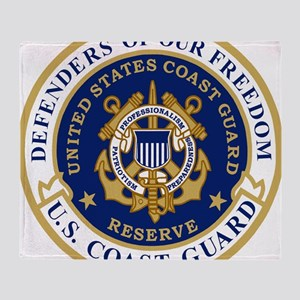 USCGR-Defending-Freedom-Circle Throw Blanket
