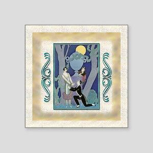 "Keepsake-6 June Barbier-Lov Square Sticker 3"" x 3"""