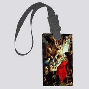 The Descent from the Cross by Ru Large Luggage Tag