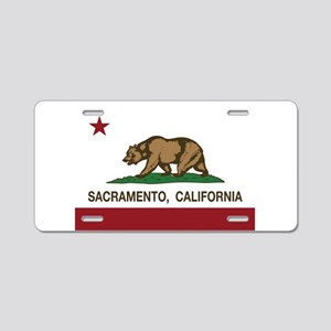 california flag sacramento Aluminum License Plate