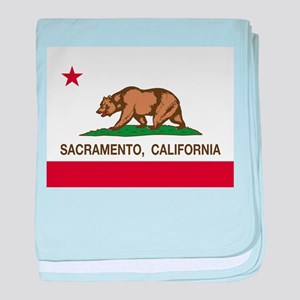 california flag sacramento baby blanket