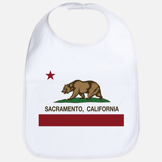california flag sacramento Bib