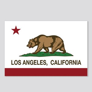 california flag los angeles Postcards (Package of
