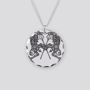 dancing devils bw Necklace Circle Charm