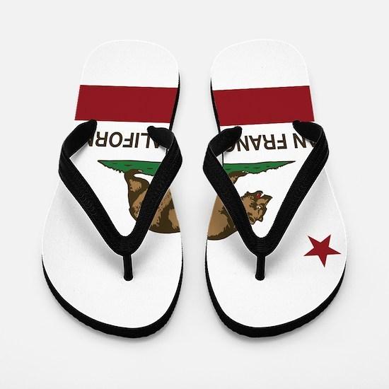 california flag san francisco Flip Flops