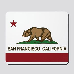 california flag san francisco Mousepad