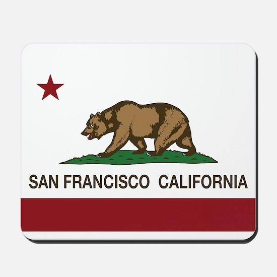 california flag san francisco Mousepad