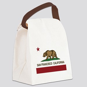 california flag san francisco Canvas Lunch Bag